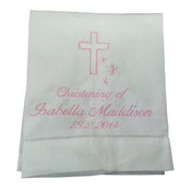 Christening linen towel