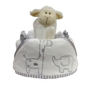 Little Safari Hooded towel nappy cake