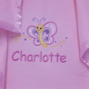 My Little Butterfly Personalised Blanket