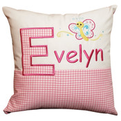 Personalised little butterfly cushion