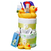 My Deluxe Little Ducks 1st Bath Nappy Cake