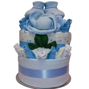 Delux Beautifully for Baby Gift Cake...Blue