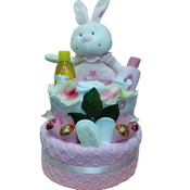 New Beginnings Embroidered Baby Nappy Gift Cake