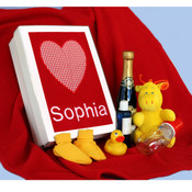 Personalised Red Blanket Gift Hamper