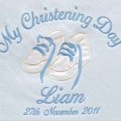 My Christening Day Pink Personalised Blanket
