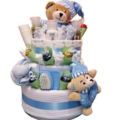 Ultimate 1st Teddy Nappy Gift Cake 3 Tier