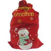 Personalised Christmas Gift Sack - Snowman