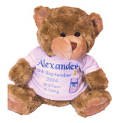 Personalised | 30cm Oliver Teddy Bear | New Baby