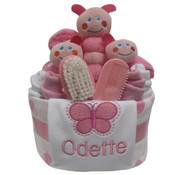 Personalised Butterfly Gift nappy cake