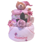 Personalised Delux Butterfly Gift nappy cake