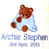 My Teddy in a Blanket Personalised Blanket