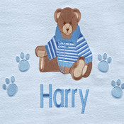 Bronte Bear Personalised Blanket