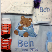 My Handsome Boy Personalised Baby Blanket Gift Set