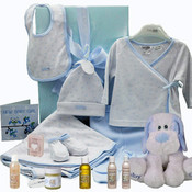 Baby Boy Side Tie Gift Set with Aromababy Gift & Teddy