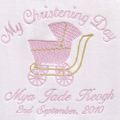 My Special Day Pram Personalised Baby Blanket