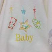 Lullaby Personalised Baby Blanket
