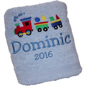 Toot Toot Personalised Bath Towel