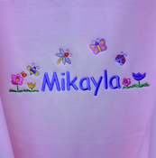 In the Garden Personalised Baby Blanket