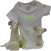 Personalised Organic Cotton Baby Gift Set