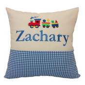 Copy of Personalised Star gingham cushion