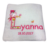 Sheridan Little Bird Personalised Bath Towel