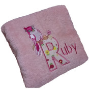 Little Bird Personalised Bath Towel