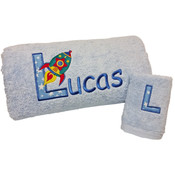 Personalised Rocket Bath Towel