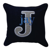 Personalised Denim cushion