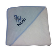 Personalised Anchor baby hooded towel