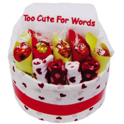 Too Cute for Words Baby Gift Cake
