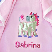 My Satin Pony Personalised Blanket