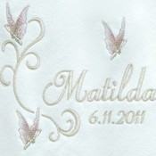 My Beautiful Butterflies Personalised Baby Blanket