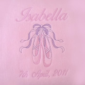 Beautiful Ballet Slippers Personalised Blanket