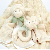 Three Snuggly Lambs...personalised