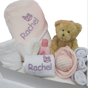 Personalised Butterfly Hooded Towel Gift Set