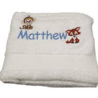Tiny Animals Personalised Bath Towel Thumbnail