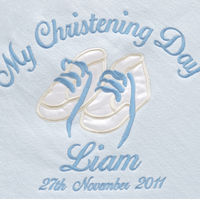 My Christening Day Pink Personalised Blanket Thumbnail