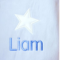 Stars...Blue Personalised Baby Blanket Thumbnail