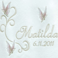 My Beautiful Butterflies Personalised Baby Blanket Thumbnail