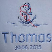 Anchor Personalised Blanket Thumbnail