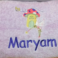 Fairy Personalised Bath Towel Thumbnail