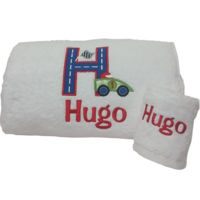 Car Track Personalised Bath Towel Thumbnail