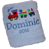 Toot Toot Personalised Bath Towel Thumbnail