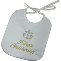 Christening bib - Personalised Thumbnail