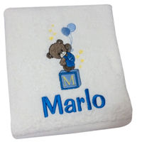 Personalised Bath Towel - Teddy Thumbnail