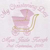 My Special Day Pram Personalised Baby Blanket Thumbnail