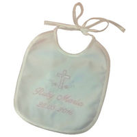 Dainty Christening bib - Personalised Thumbnail